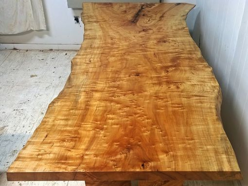 Custom Made Silver Maple Dining Table With Same Tree Leg System