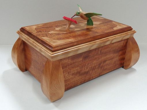 Custom Made Carved Hummingbird Keepsake Box