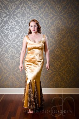 Custom Made Jasmine - Handmade Gold 1950s Style Prom Dress, Evening Gown Or Alternative Wedding Dress