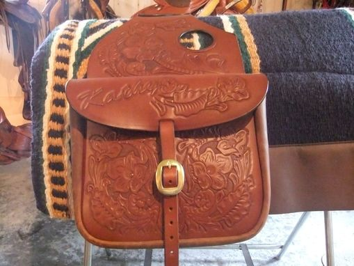 Custom Made Leather Saddle Bags