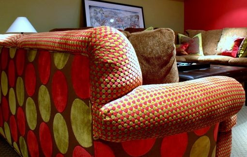 Custom Made Re Upholstered Chair Couch And Custom Made Cushions
