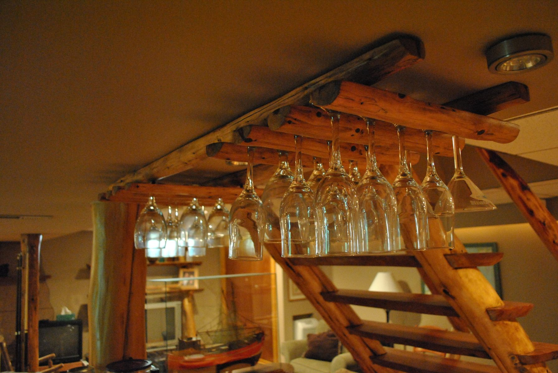 Hand Made Custom Wine Glass Rack By Phil S Woodwork