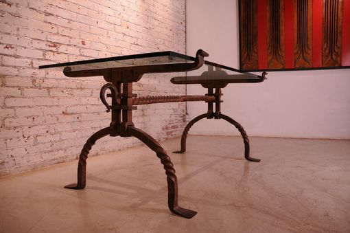 Custom Made Wrought Iron Desk Table