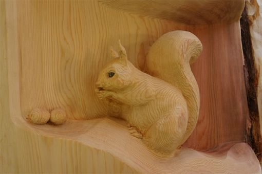 "Custom Made Deep Relief Carving ""Squirrel"""