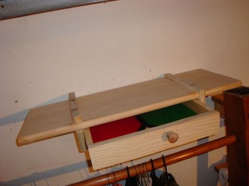 Custom Made Floating Shelf With Drawer (Pine)