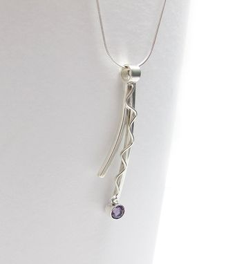 Custom Made Amethyst Pendant - Sterling Amethyst Necklace - Gemstone Necklace - Purple Gemstone Pendant