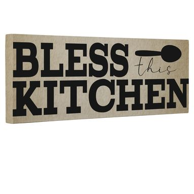 Custom Made Bless This Kitchen Canvas Wall Art