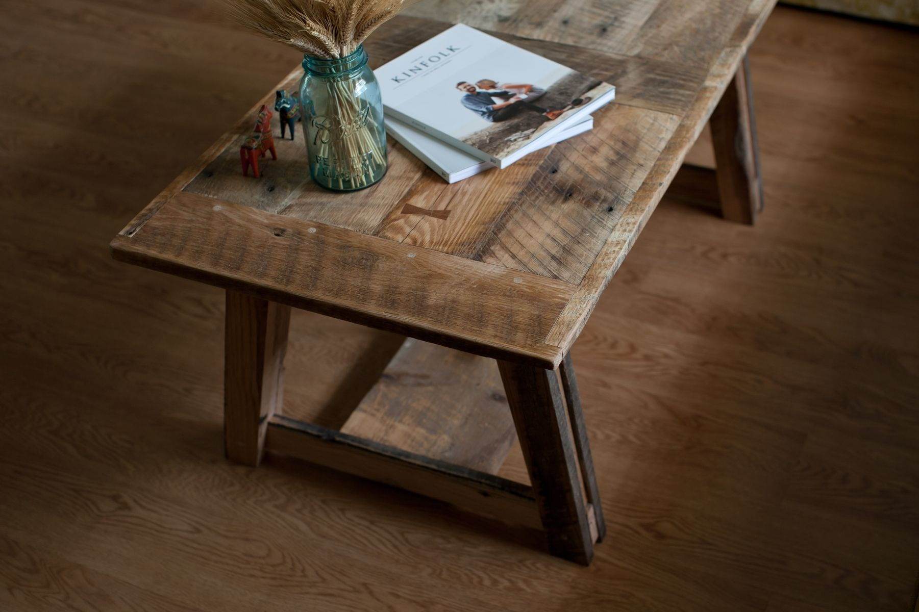 Custom Reclaimed Barn Wood Coffee Table by Pine Stock