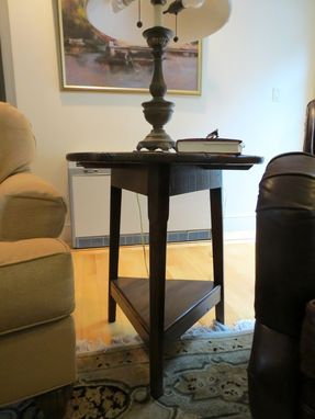 "Custom Made Custom Rustic 3 Legged End Table ""Cricket Table"""