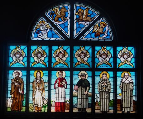 Custom Made Chapel Window - 16 Panels