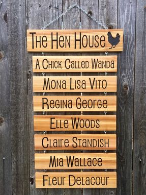 Custom Made The Hen House Chicken Name Sign