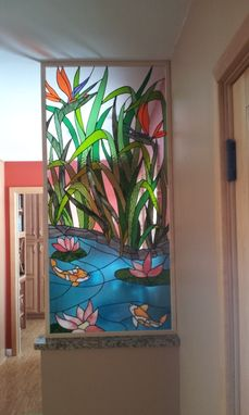 "Custom Made Stained Glass Panel - ""Asian Paradise"" (P-34)"