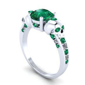 skull engagement ring or skull wedding band solid silver - Skull Wedding Ring