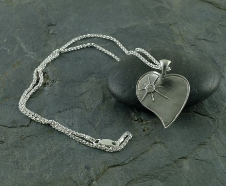 Custom Made Fine Silver Heart Necklace