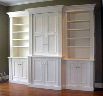 Handmade built in cabinet 2 by brisson woodworking for Built in cabinets