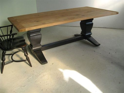 Custom Made Barnwood Trestle Table