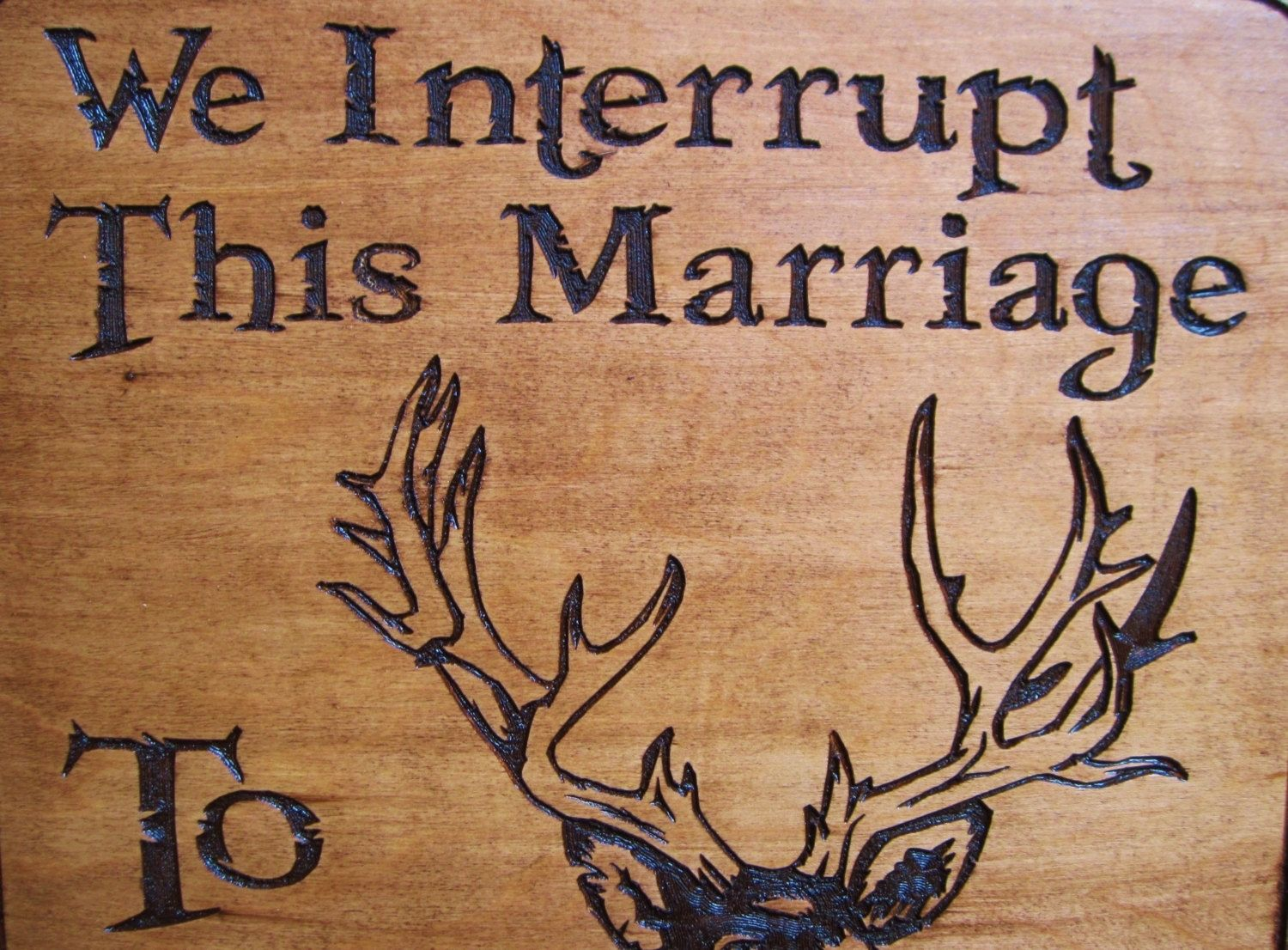 Hunters Man Cave Signs : Hand made rustic wood carved deer hunting season sign great for