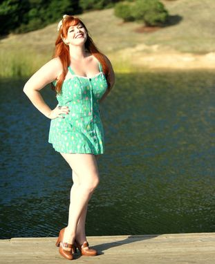Custom Made Vintage Pin Up Reproduction 1960s Sunsuit Romper