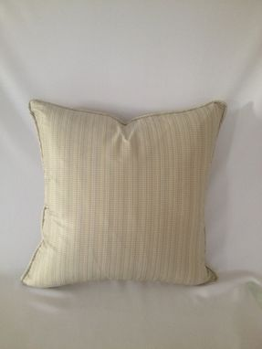 Custom Made Set Of 2: Light Mint, Brown, And Cream Silk Pillow Cover