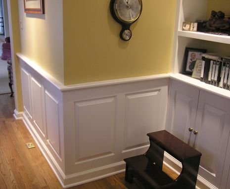 Custom Made Library Bookcases And Wainscot Chatham,Nj