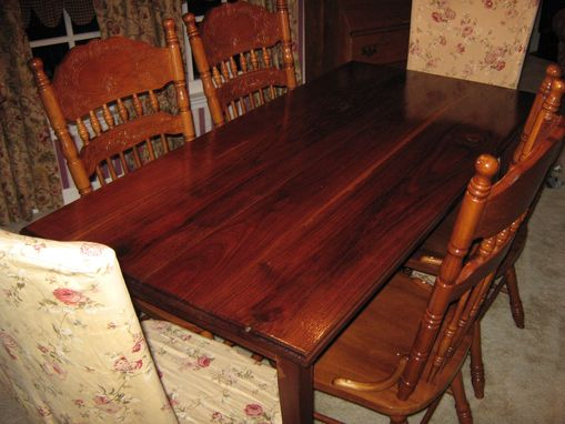 Custom Made Walnut Dining Room Table