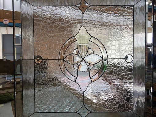 Custom Made All Clear Beveled Waterglass Stained Glass