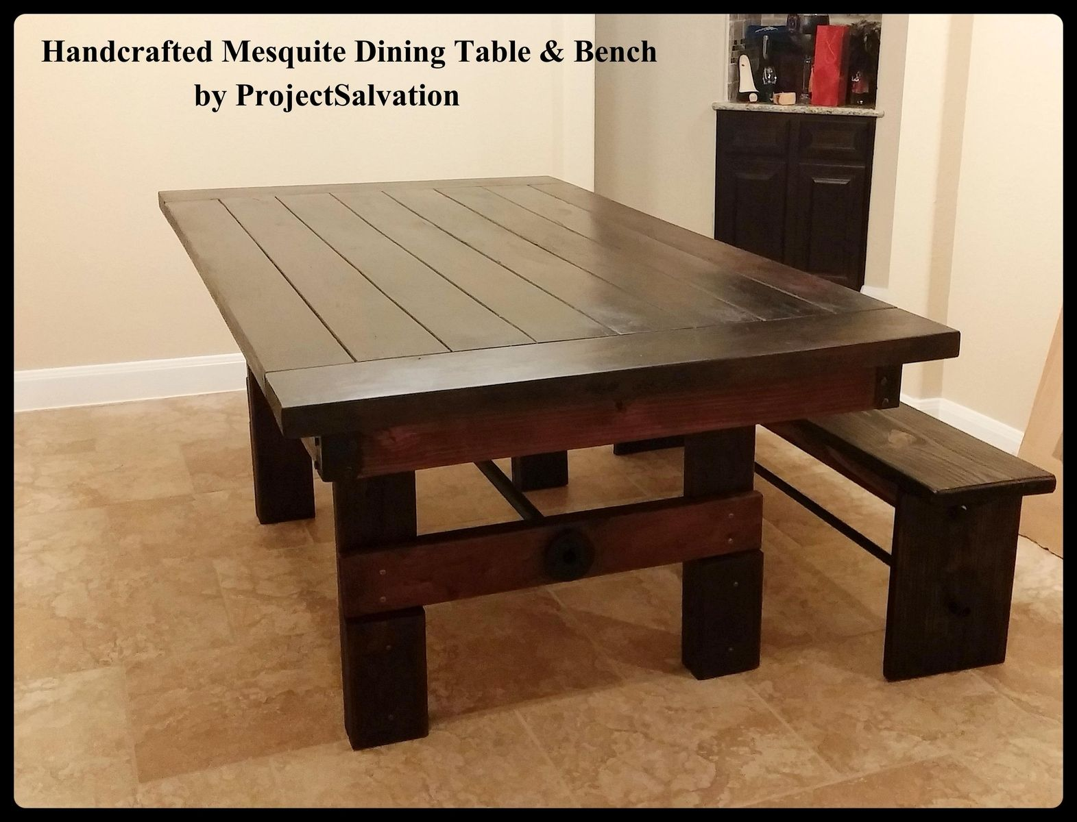 Hand Made Farm House Table Handcrafted Mesquite Dining Table By
