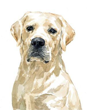 Hand Crafted Lab Dog Custom Portrait, Watercolor, Labrador ...