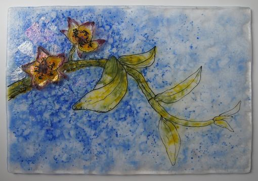 Custom Made Diffusion-Orchid Glass Fused Artwork