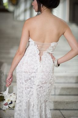 Custom Made Custom Made Couture Split Fit-N-Flare Wedding Dress-Sheer Back (Style # Juliet Pb137)-Made To Order