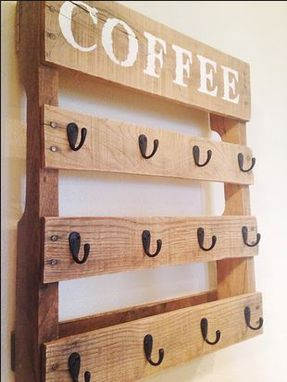 Custom Made Quarter Pallet Coffee Cup Holder