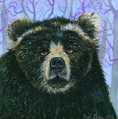 Custom Made Custom Acrylic Painting Of A Bear