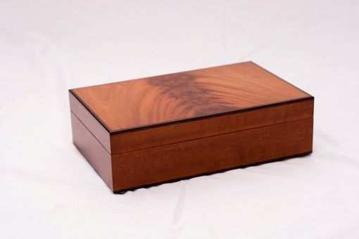 Custom Made Jewelry Box Made From Crotch Mahogany