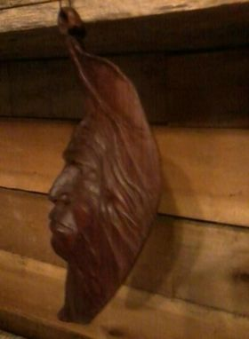 Custom Made Indian Face In Tobacco Leaf Wall Hanging