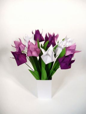 Custom Made Purple Passion Origami Paper Tulips