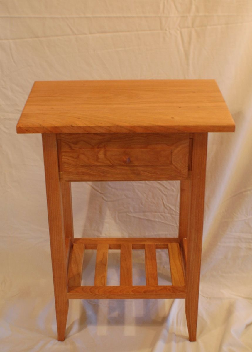 A Handmade Cherry Shaker Style Nightstand End Table