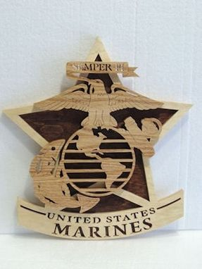 Custom Made U. S. Marine Corps Plaque On Star