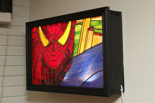Custom Made Stained Glass - Marvel Comic Spiderman