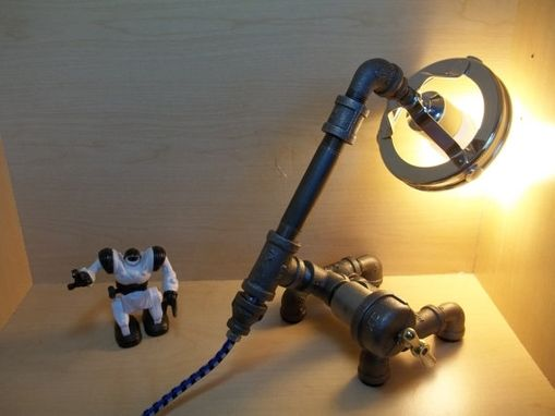 Custom Made Minimalist/Industrial/Upcycled/Repurposed Assemblage Table/Desk Lamp