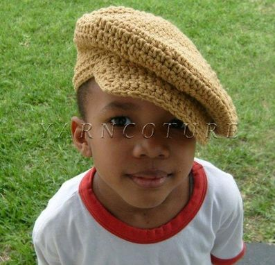 Custom Made Cool Cotton Newsboy Hat/Unisex Tan Beige Color
