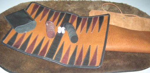 Custom Made Leather Backgammon Set