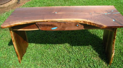 Custom Made Live-Edge Walnut Desk Or Console