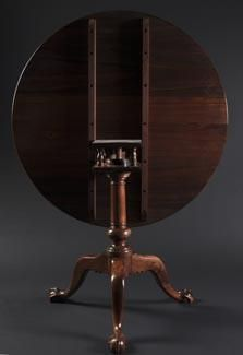 Custom Made Chippendale Tilt Top Table