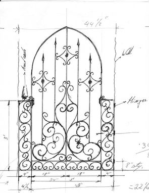 Custom Made Ornamental Gate