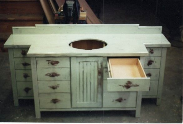 Buy Hand Crafted Distressed Bathroom Vanity With Drawers Made To Order From Herzfeld Studios Custommade Com