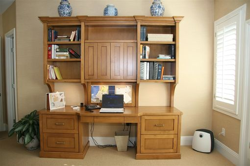 Custom Made Custom Home Office Built-In