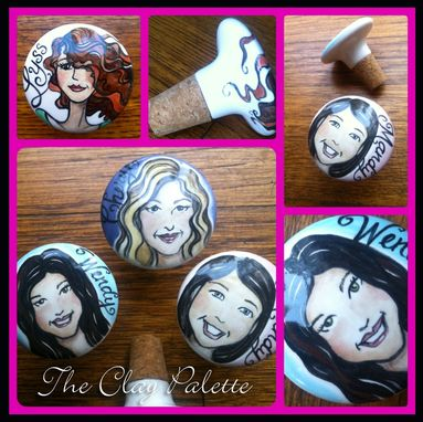 Custom Made Personalized Ceramic Bottle Stoppers