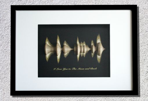 Custom Made 3d Sound Wave Anniversary Personalized Quote, Song Lyrics