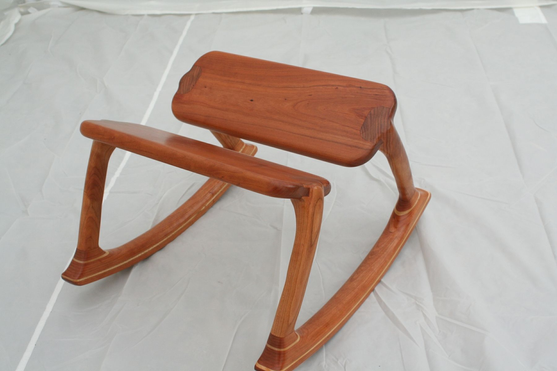 Custom Cherry Rocking Footstool By Wood In Motion