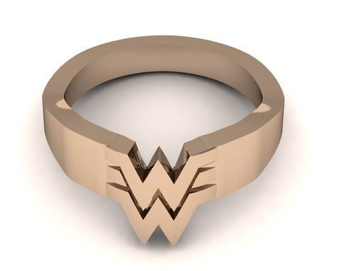 Custom Made Wonder Woman Band In 14k Gold Colors